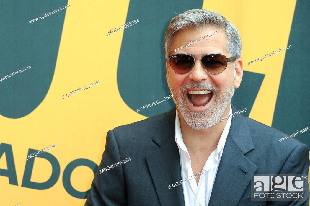 Stock Photo: American actor George Clooney attends the Sky TV series Catch-22 photocall. Rome (Italy), May 13th, 2019.