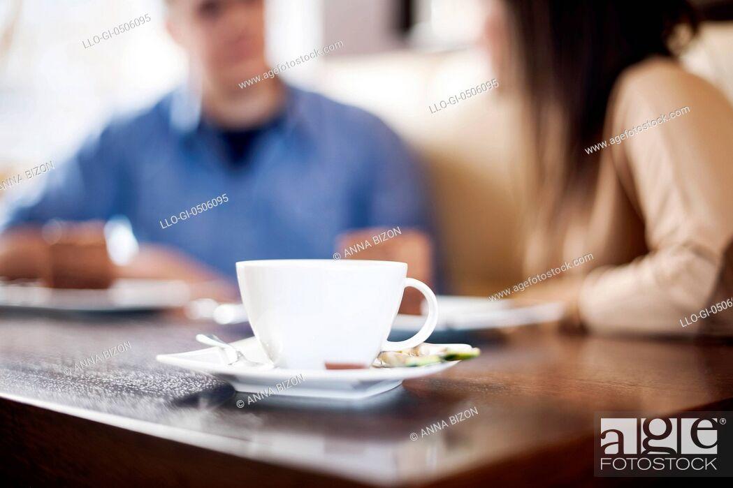 Stock Photo: Coffee time, Debica, Poland.