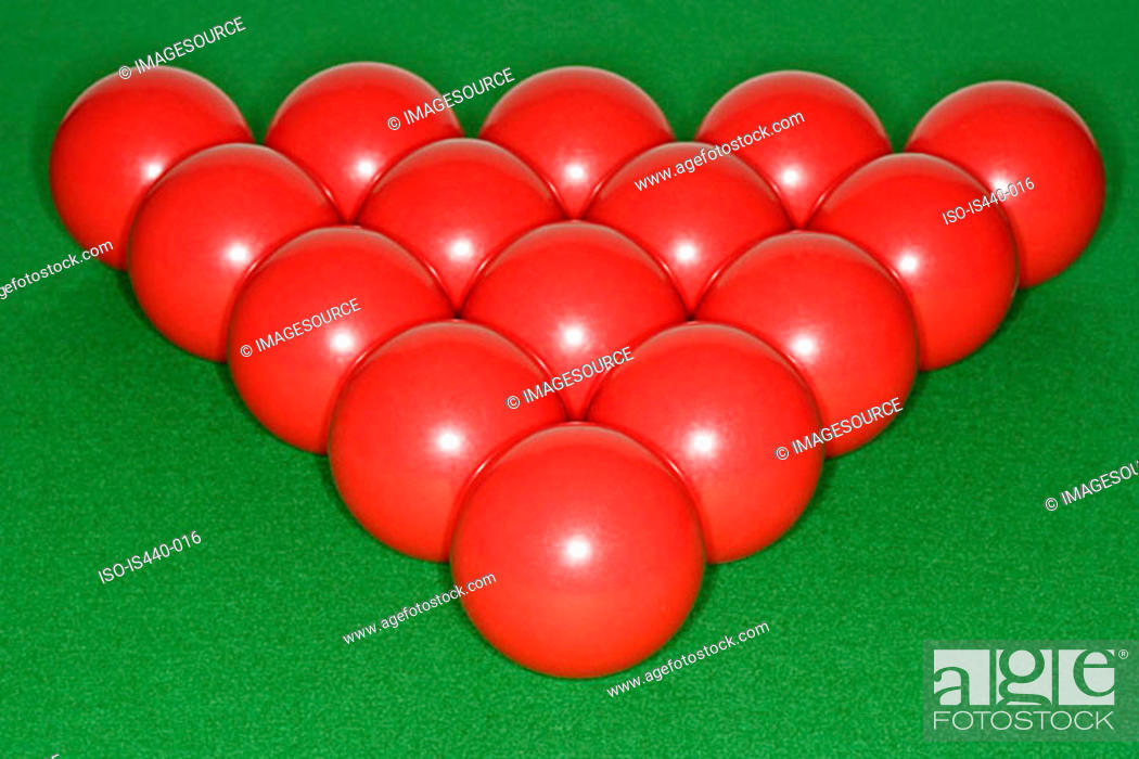 Stock Photo: Red snooker balls.