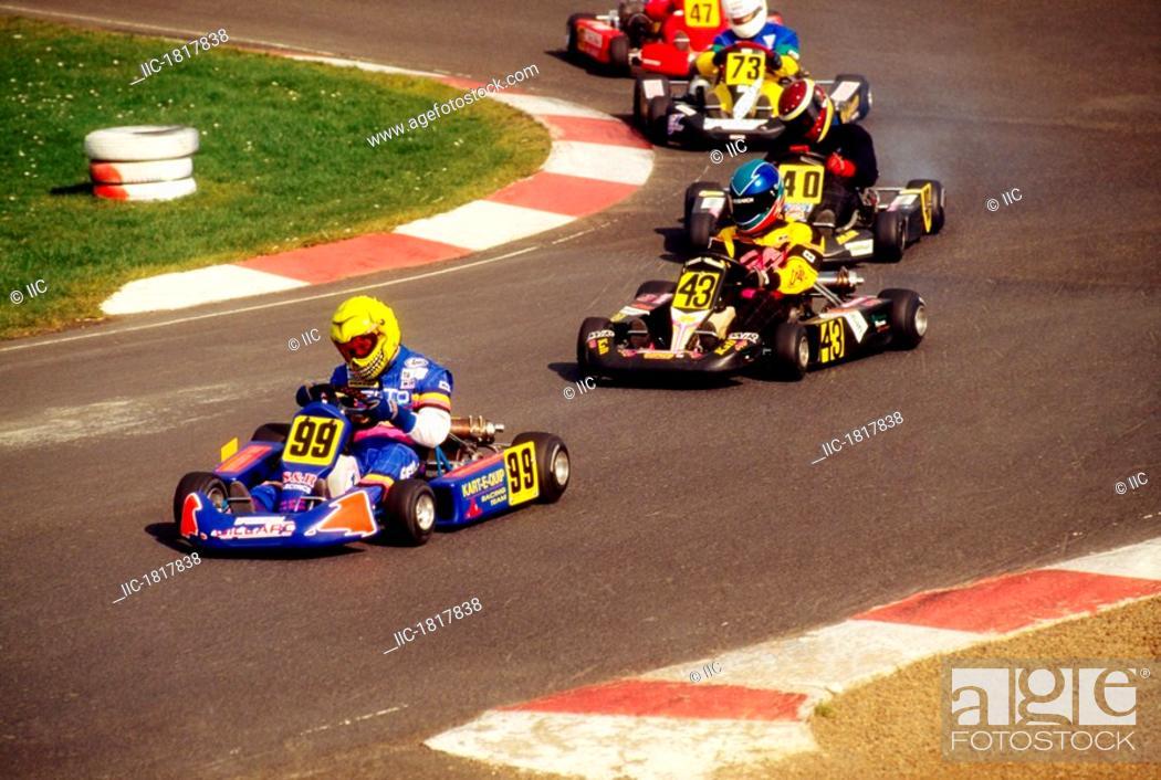 Nutts Corner Co Antrim Ireland Go Kart Racing Stock Photo
