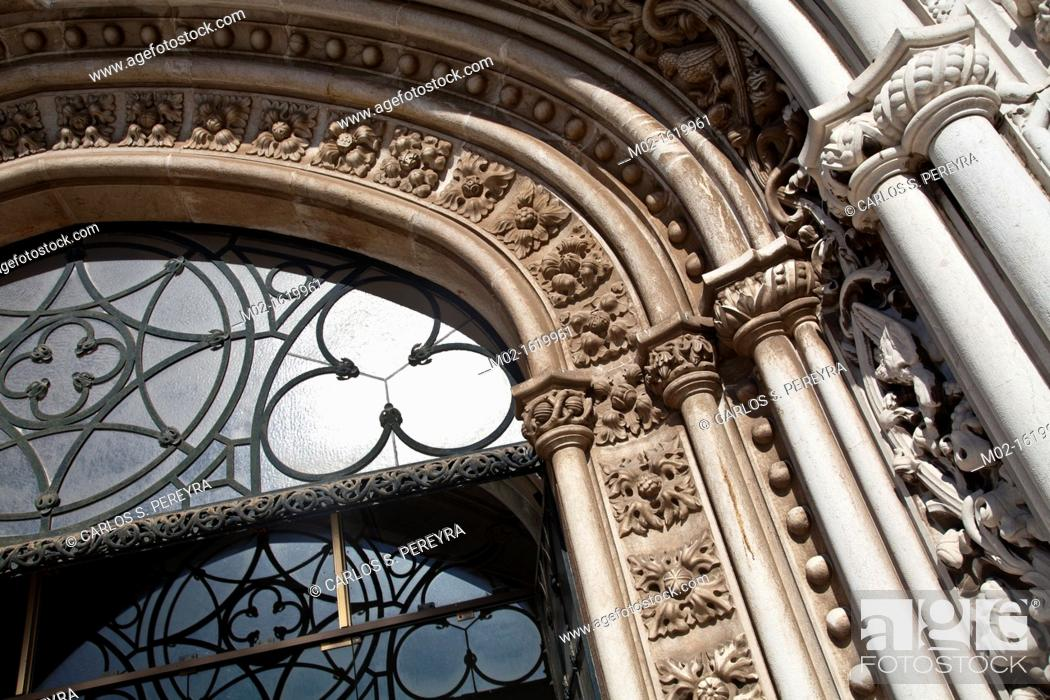 Stock Photo: Mosteiro dos Jeronimos, Hieronymites Monastery, Late Gothic period, Belem, Lisbon.