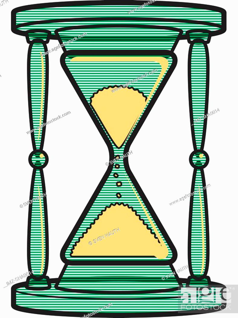 Stock Photo: Hourglass.
