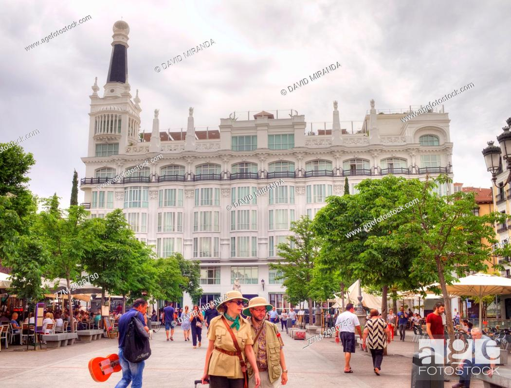 Plaza De Santa Ana Madrid Spain Stock Photo Picture And Rights
