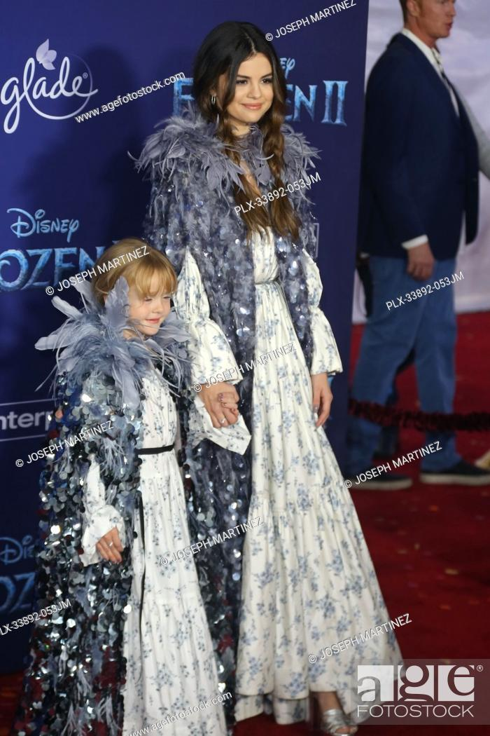 "Stock Photo: Gracie Elliot Teefey, Selena Gomez at Disney's """"Frozen II"""" World Premiere held at the Dolby Theatre in Hollywood, CA, November 7, 2019."