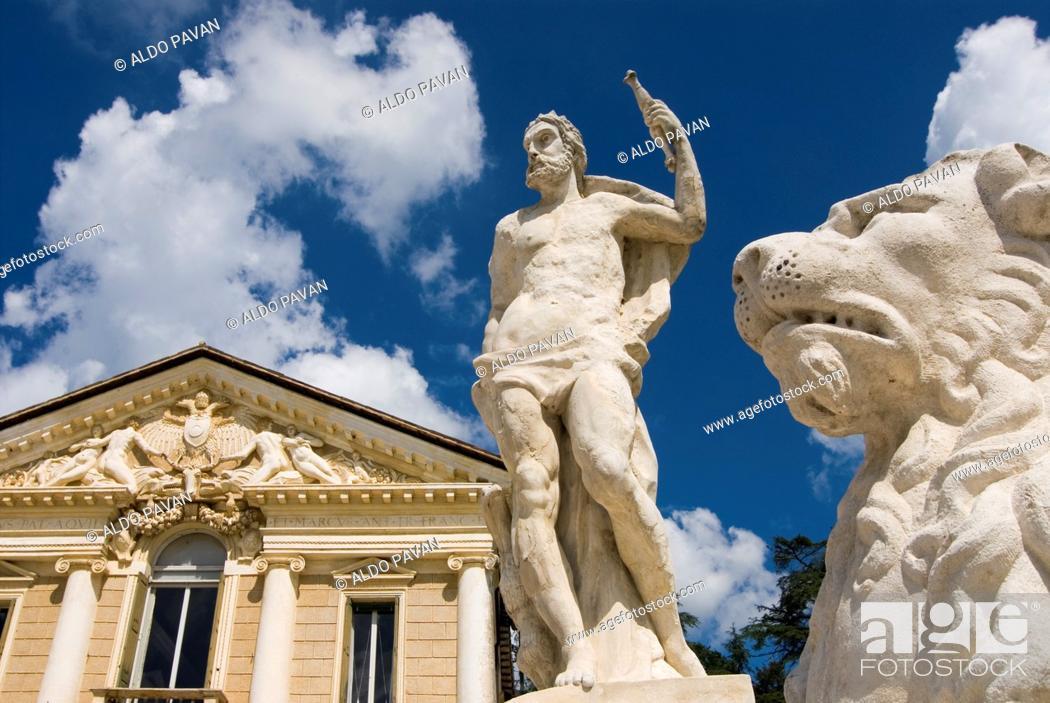Stock Photo: Italy, Maser, Villa Barbaro by Palladio.
