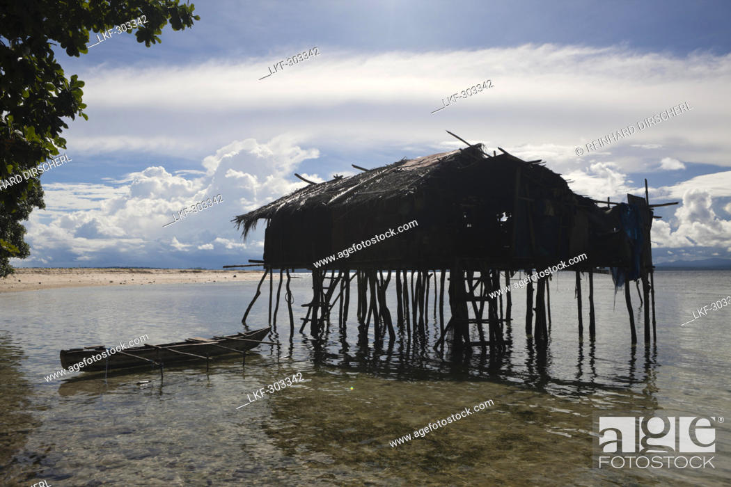 Marvelous Stock Photo   House On Stilts On Island Near Sorong, Raja Ampat, West  Papua, Indonesia