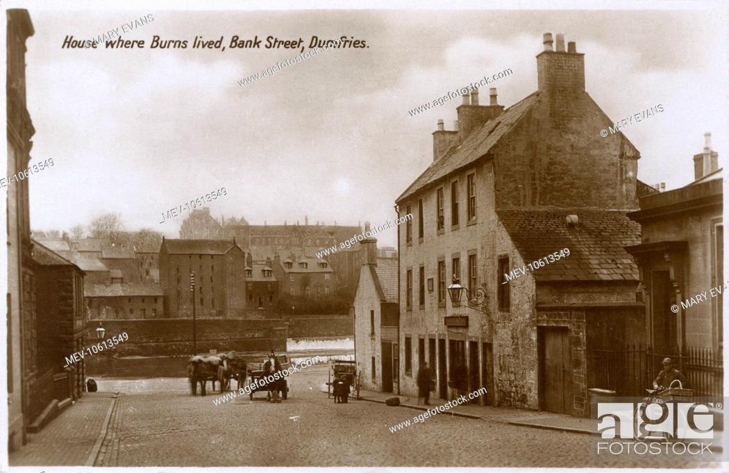 Stock Photo: Robert Burns' House - Bank Street, Dumfries.