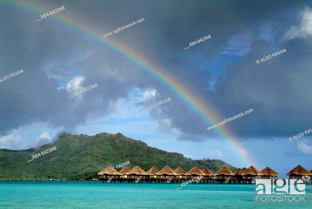 Stock Photo: Meridien resort, Bora Bora, Polynesia.
