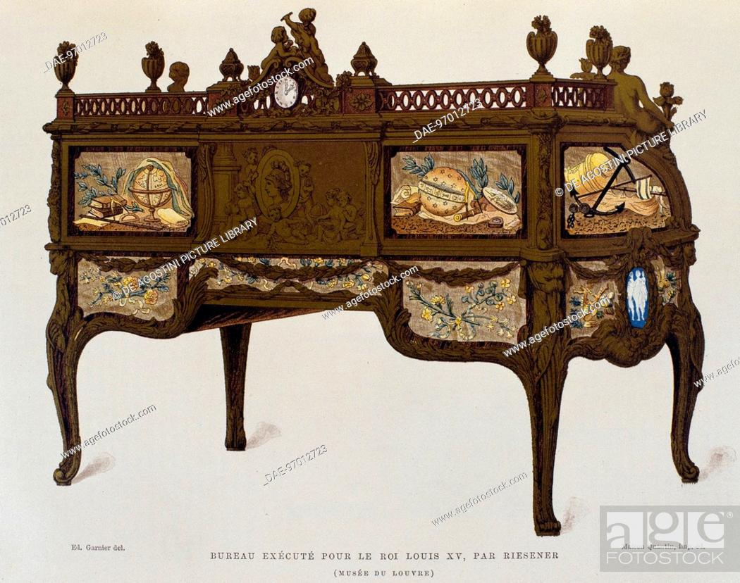 Bureau made ??in 18th century by jean henri riesener 1734 1806 for