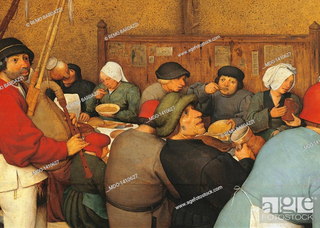 Stock Photo The Peasant Wedding By Pieter Bruegel Elder 1567 1568 16th Century Oil On Wood 114 X 164 Cm Austria Wien Kunsthistorisches