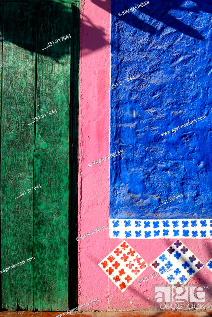 Colorful Exterior Of Mi Casa Restaurant Green Door Blue And Pink Wall Painted Decoration Stock Photo Picture And Rights Managed Image Pic J51 317944 Agefotostock