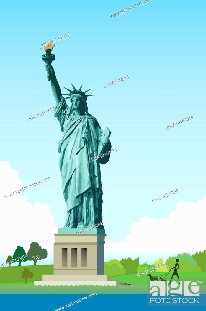Stock Photo: America, New York, Statue of Liberty, UNESCO, World Cultural Heritage.