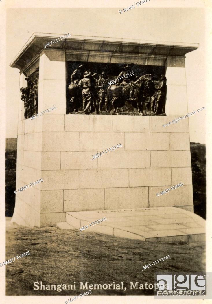 Stock Photo: Shangani Memorial, Matobo (Rhodes Matopos National Park), near Bulawayo, Southern Rhodesia (now Zimbabwe). Commemorating British soldiers of the Shangani Patrol.