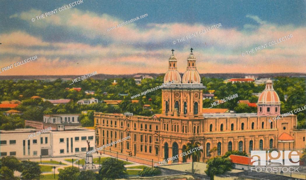 Stock Photo: 'Church of San Jose, Barranquilla', c1940s. Artist: Unknown.