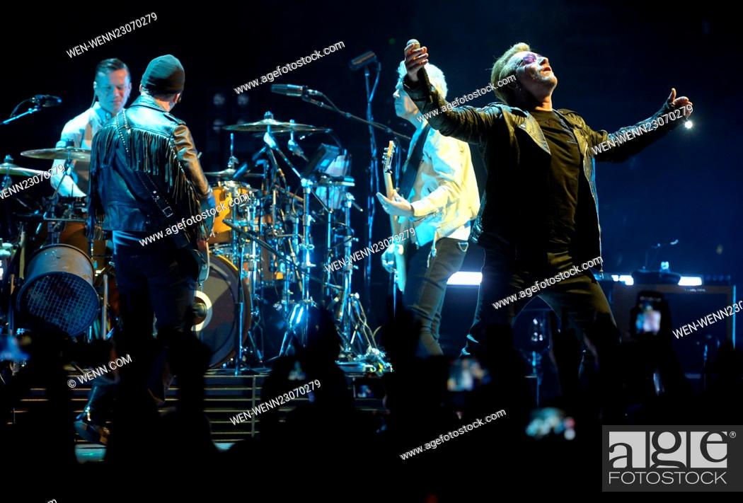 U2 perform live in concert during the 'iNNOCENCE +