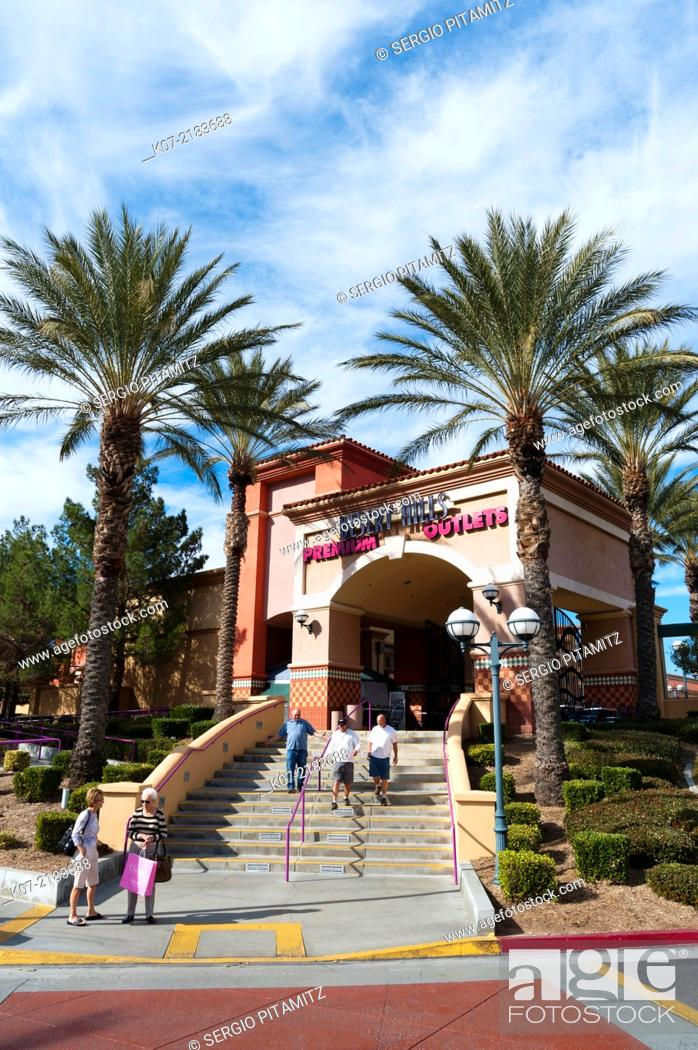 Stock Photo: Desert Hills Outlet, Palm Springs, California, USA.