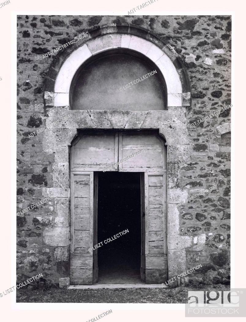 Stock Photo: Lazio Frosinone Pofi S. Antonio, this is my Italy, the italian country of visual history, Exterior and interior views, including coverage of Last Judgement.