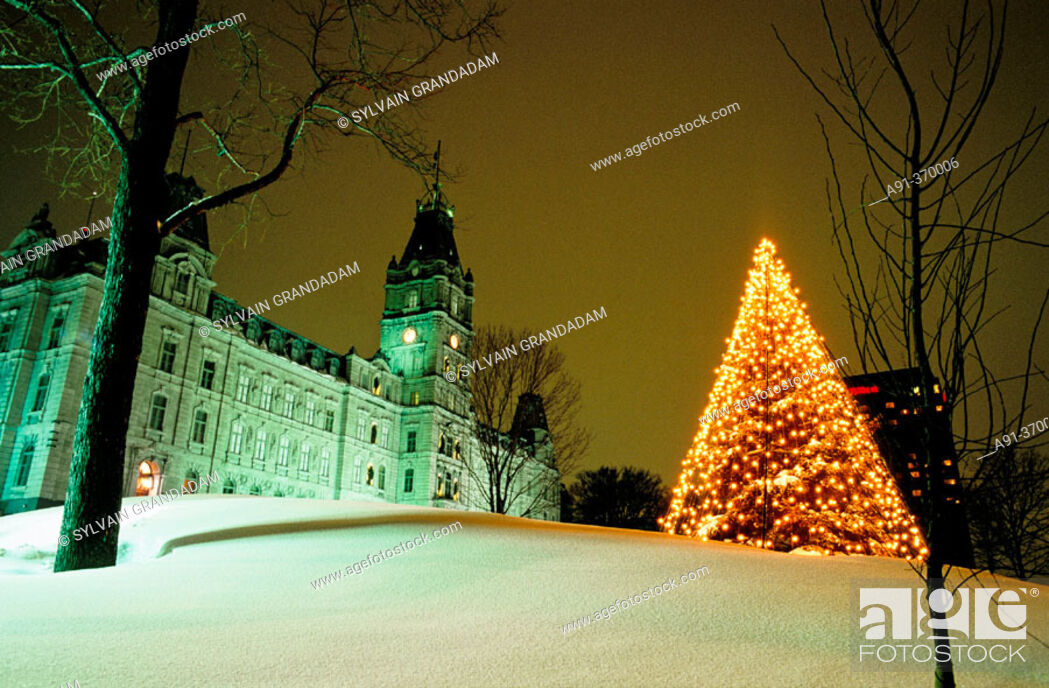 Stock Photo: City of Quebec in winter. Quebec. Canada.