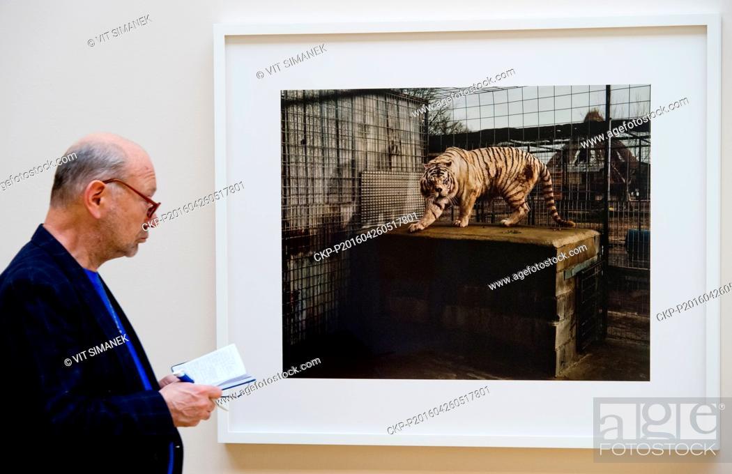 Stock Photo: Galerie Rudolfinum presents the New York artist TARYN SIMON in Prague, Czech Republic, April 26, 2016. The conceptual methods.