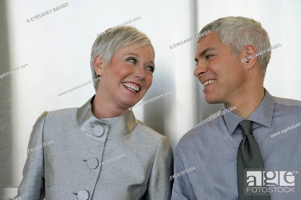 Stock Photo: Happy mature couple looking at each other.