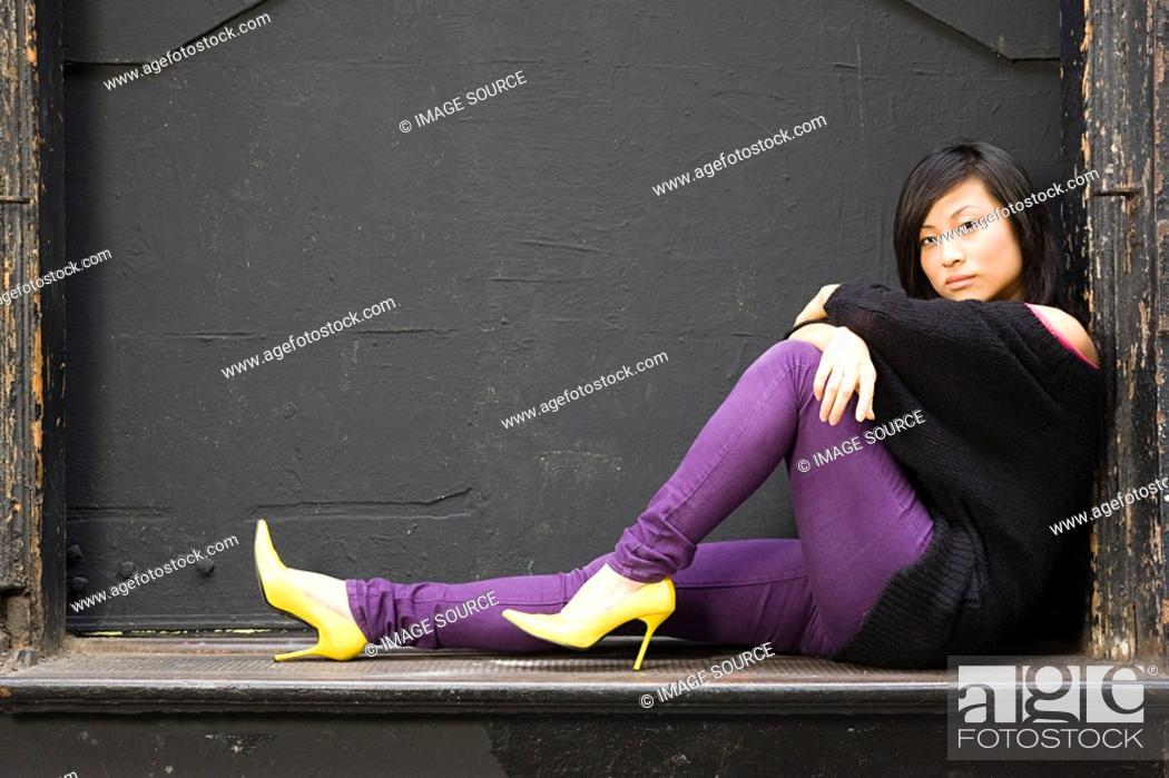 Stock Photo: Stylish young woman.
