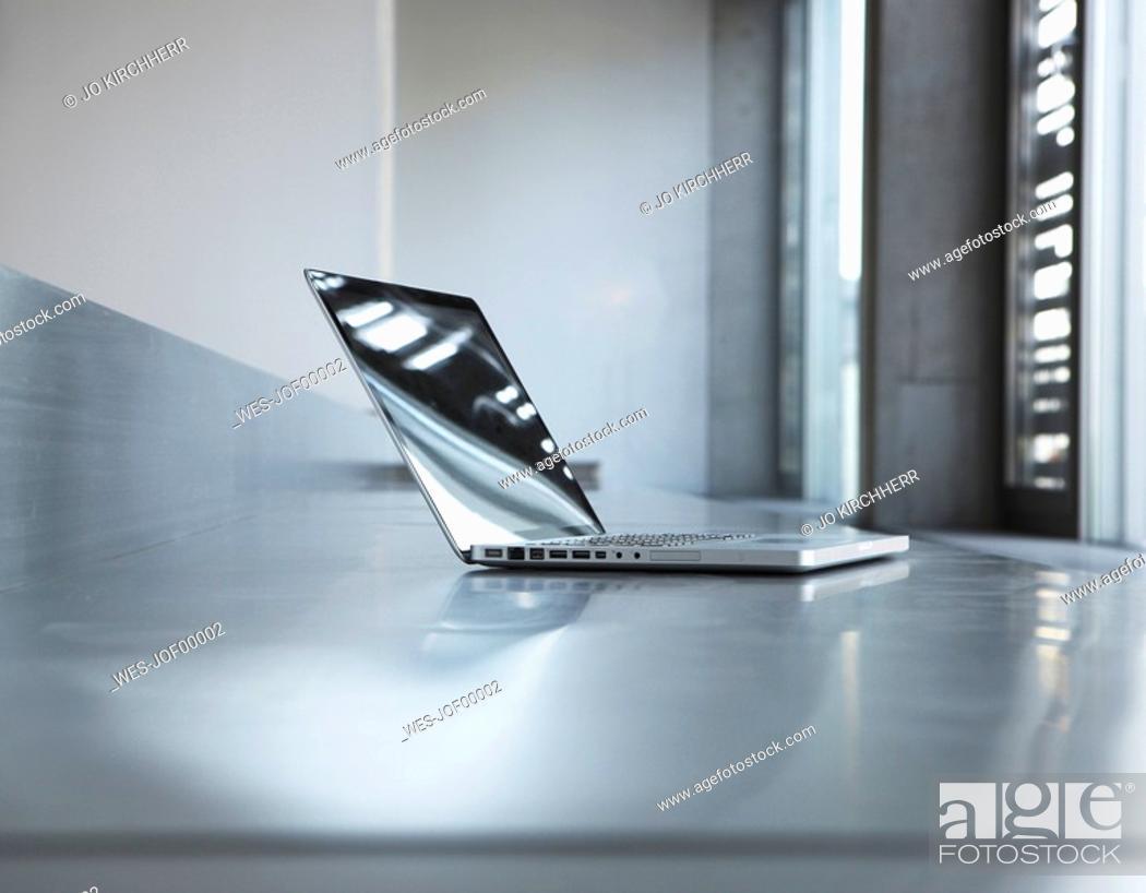 Stock Photo: Laptop on desk.