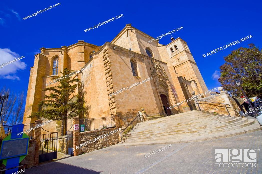 Imagen: Collegiate de Santa María del Mercado, 16th Gothic-Renaissance Style, National Monument, Berlanga de Duero, Soria, Castilla y León, Spain, Europe.