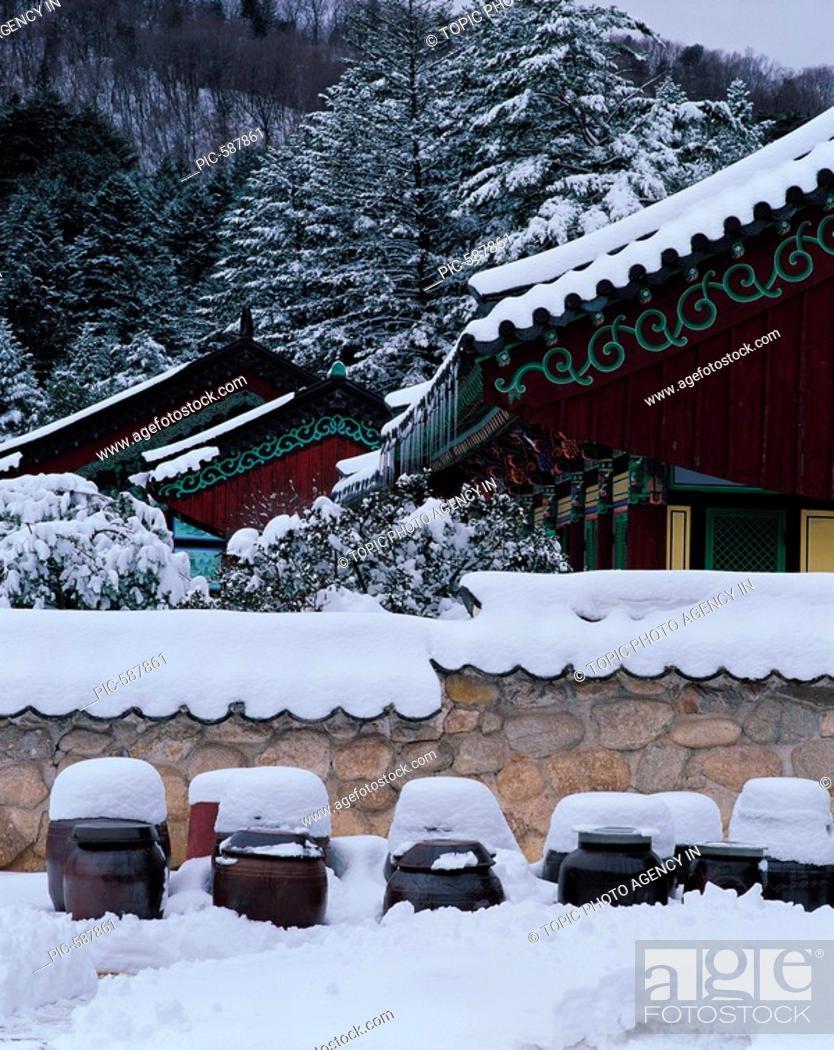 Stock Photo: Woljeongsa Temple ,Mt  Odaesan National Park,Gangwon,Korea.