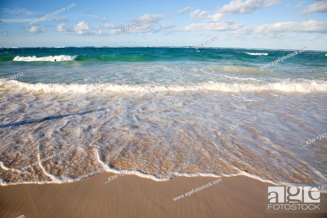 Stock Photo: Beach, Punta Cana, Dominican Republic, Caribbean.
