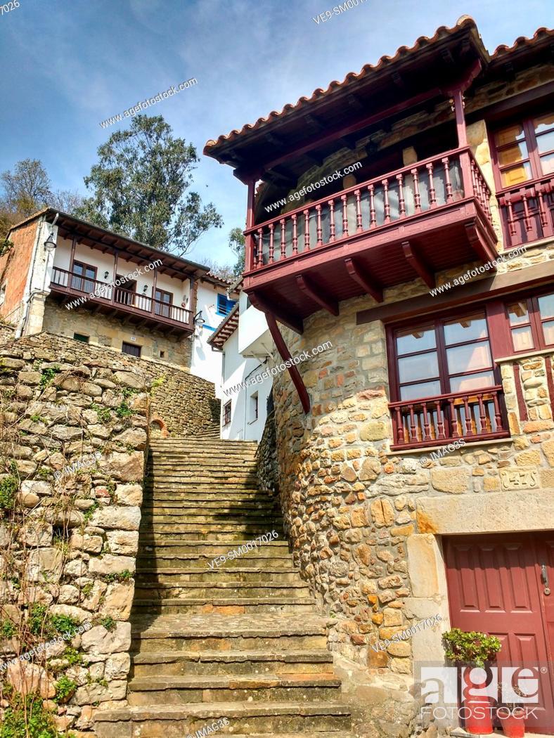 Stock Photo: Tazones, Villaviciosa municipality, Asturias, Spain.