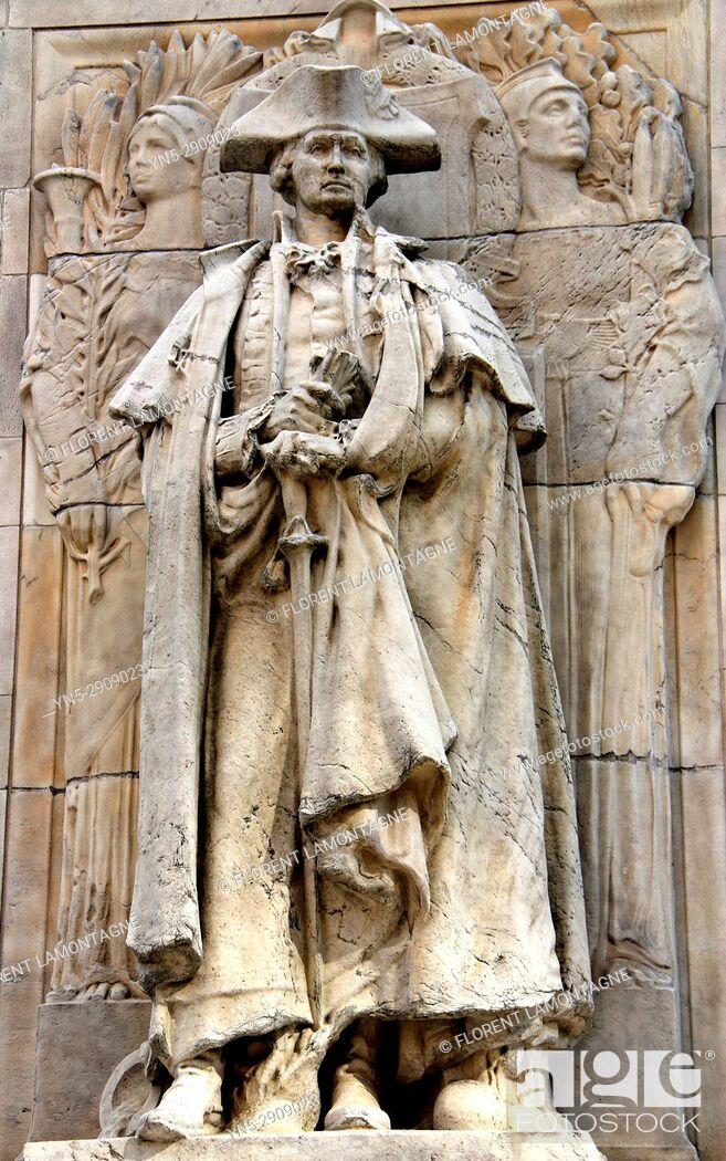 Stock Photo: Statue George Washington, New York, Etats-Unis, United States.