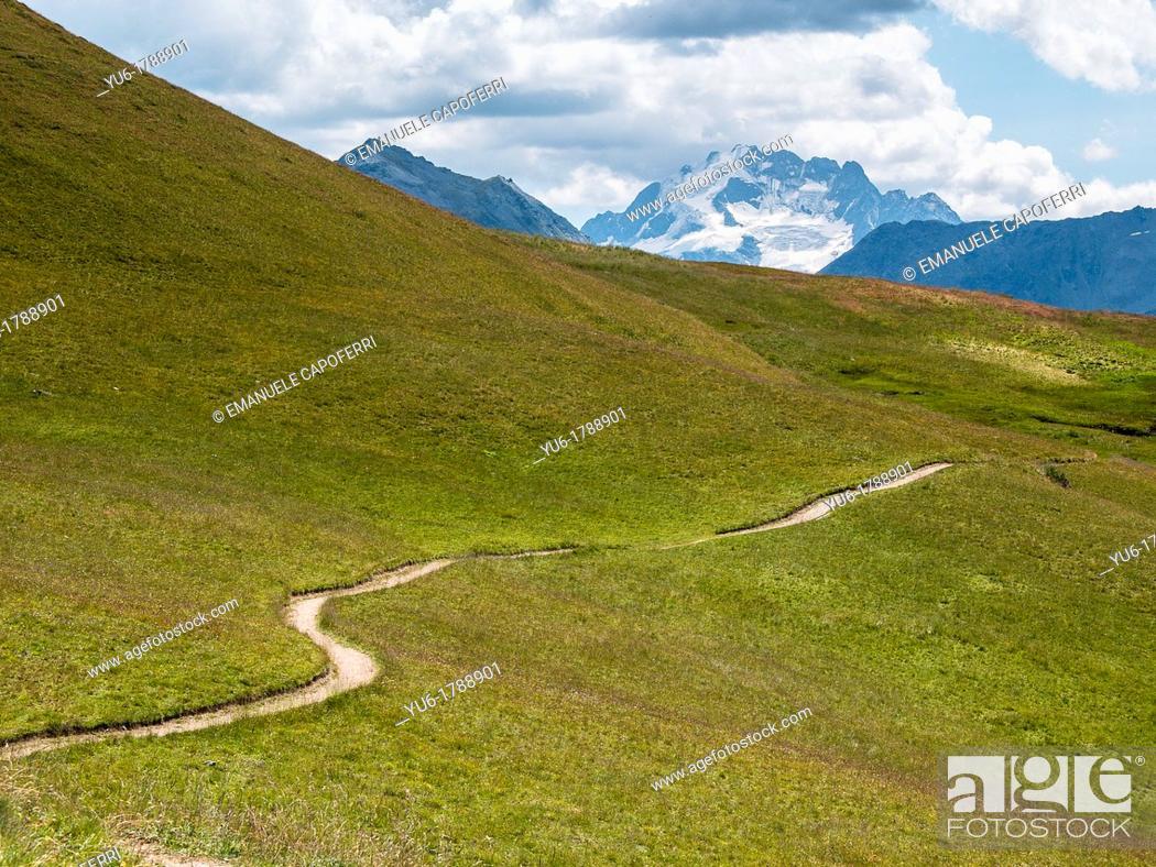 Stock Photo: Path, Trepalle, Sondrio, Lombardy, Italy.