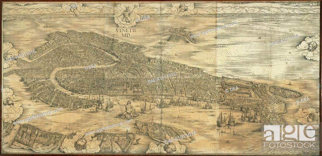 Italy Map 1500.Cartography Italy 16th Century Map Of Venice In 1500 By Jacopo