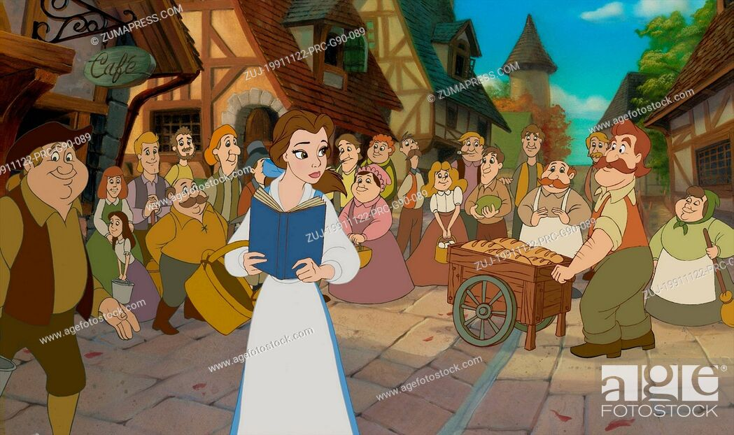 Stock Photo: RELEASE DATE: 22 November 1991. TITLE: Beauty and the Beast. STUDIO: Walt Disney Pictures. PLOT: Belle, whose father Maurice is imprisoned by the Beast (really.