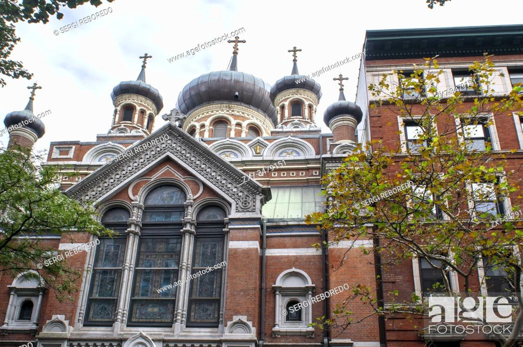 Imagen: St. Nicholas Russian Orthodox Cathedral. 15 East 97th Street. Manhattan New York USA. This church was built in 1902 in true Muscovite style.