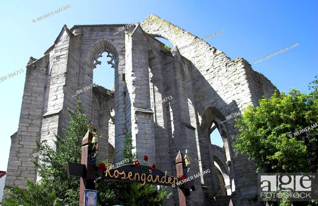 Stock Photo: Ruins of St. Kathrin, Visby, Gotland, Sweden.