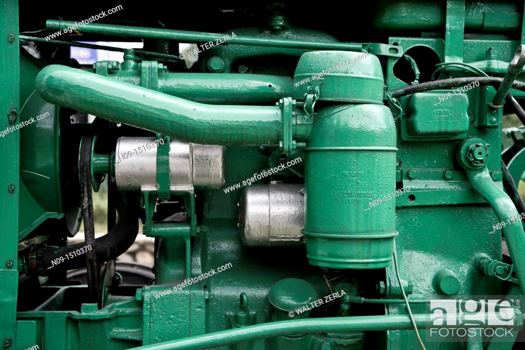 Stock Photo: Close-up of old tractor.