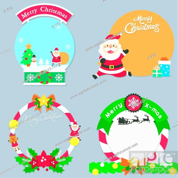 Stock Vector: Santa Claus, Christmas Tree, Man, People, Happy, Laughing, Senior, Winter, Animal, Christmas, Snowman, Gift, Joyful, Illustration, Event, Vector, Pop-Up, Christmas Decoration
