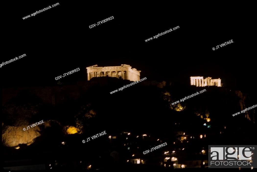 Imagen: Acropolis at Night, Athens, Greece, 1963.