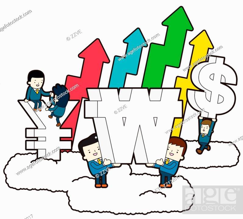 Stock Photo: Economic Effect.