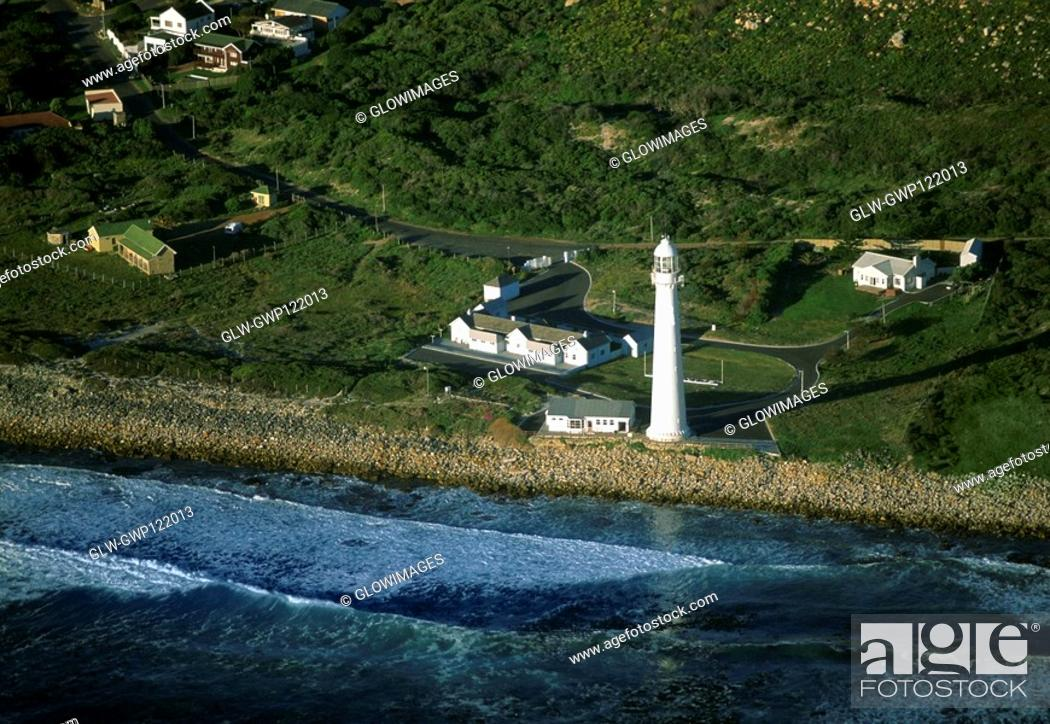 Stock Photo: Kommetjie Lighthouse, Cape of Good Hope, South Africa.