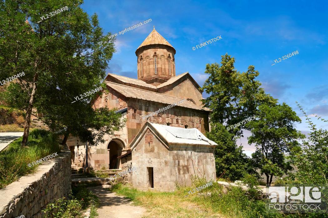 Stock Photo: Picture & image of the medieval Sapara Monastery Georgian Orthodox monastery church of St Saba, 13th century, Akhaltsikhe, Georgia.