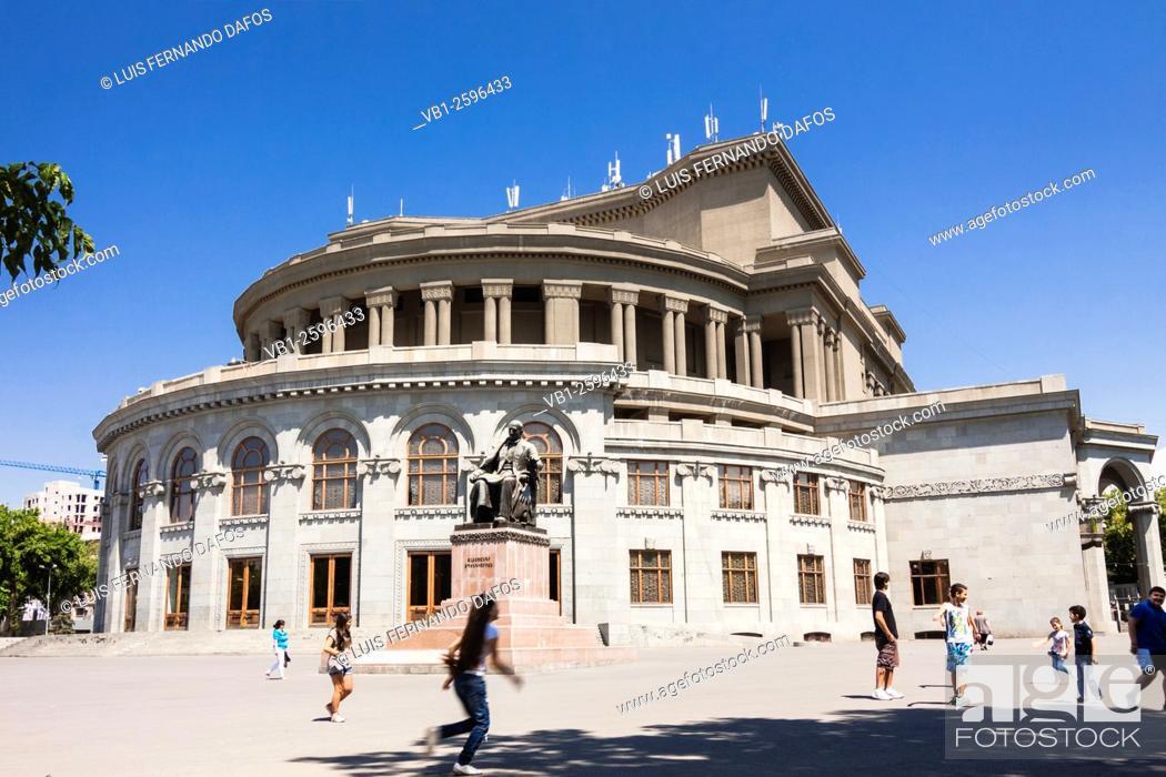 Stock Photo: Yerevan Opera Theater, Armenia.