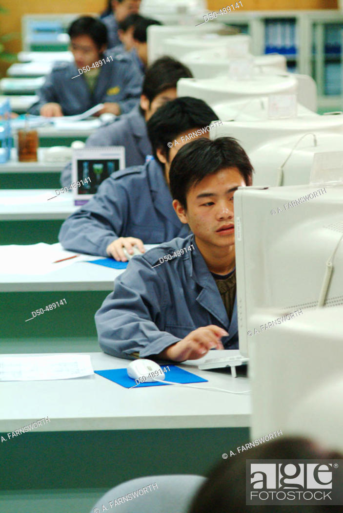 Stock Photo: Heyuan China. Computers. The Lung Kee Group is one of the world's biggest manufacturers of Mould bases which are used in the production of plastic goods.