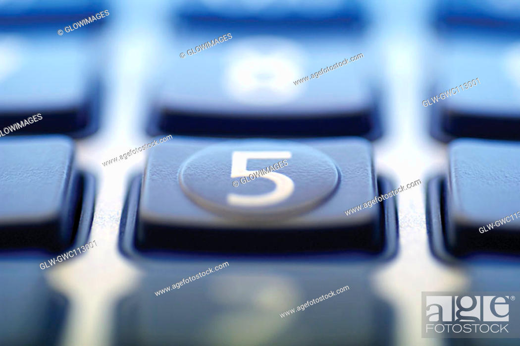 Stock Photo: Close-up of buttons of a calculator.
