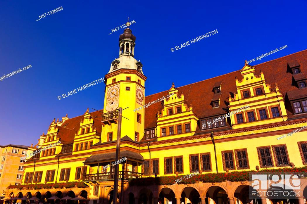 Stock Photo: Altes Rathaus Old City Hall, Markt Market Square, Leipzig, Saxony, Germany.