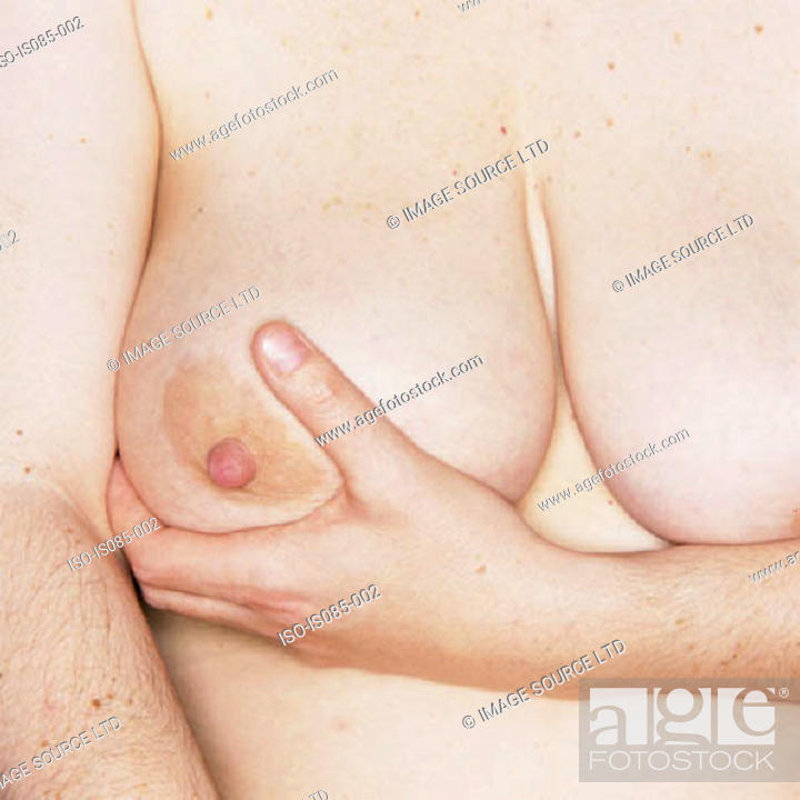 Stock Photo: Female breasts.