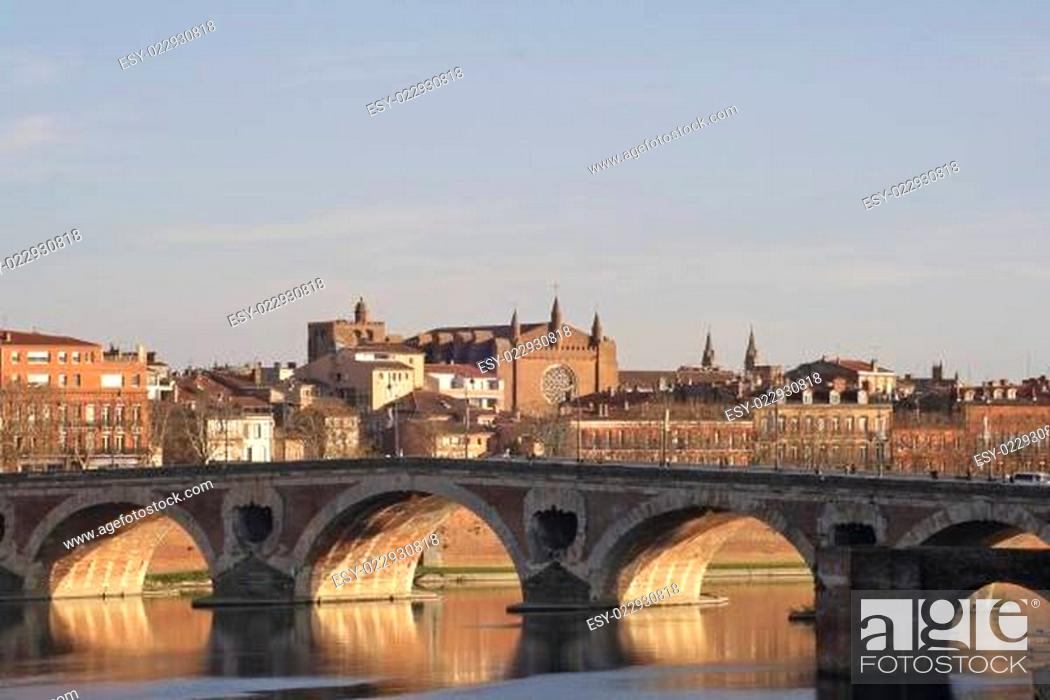 Stock Photo: Architecture in Toulouse.