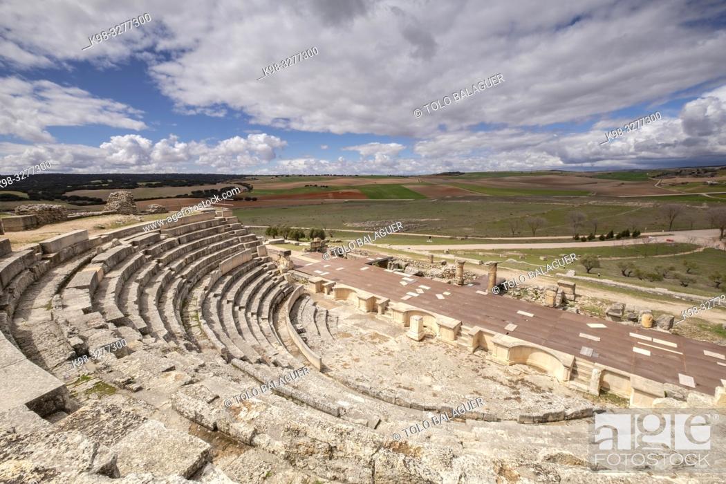 Imagen: Teatro romano, parque arqueológico de Segóbriga, Saelices, Cuenca, Castilla-La Mancha, Spain.