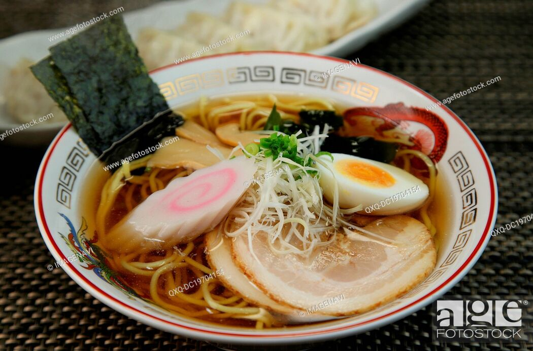 Stock Photo: Soy sauce Ramen.